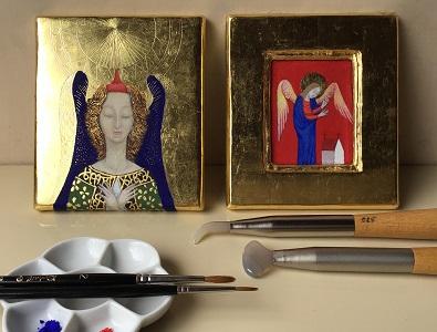 市民のためのプログラム 古典絵画技法 金箔装飾とテンペラ画