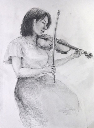 大人のためのアトリエ講座「音を奏でる人体を描く-クロッキーとデッサン-」