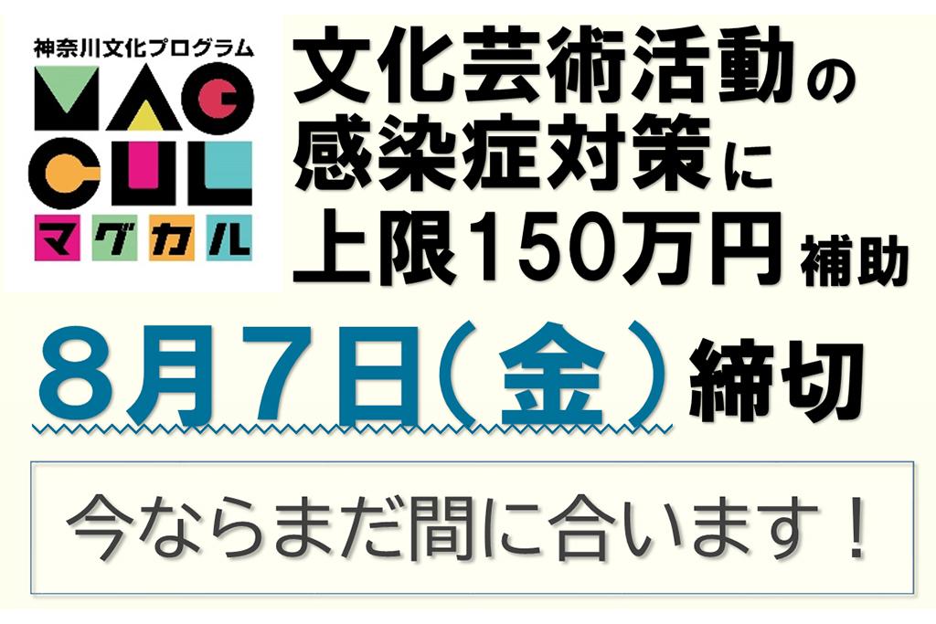 神奈川県では、文化芸術活動の再開を支援します!〈新規補助金の募集〉8月7日(金)締切!