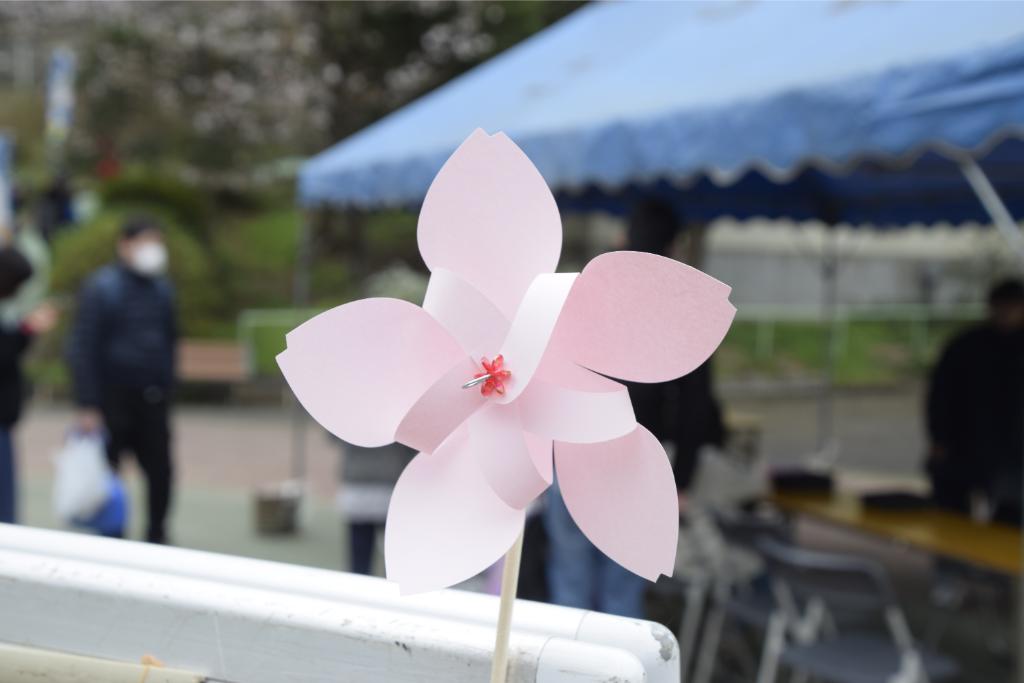 桜型のかざぐるまをつくってみよう!