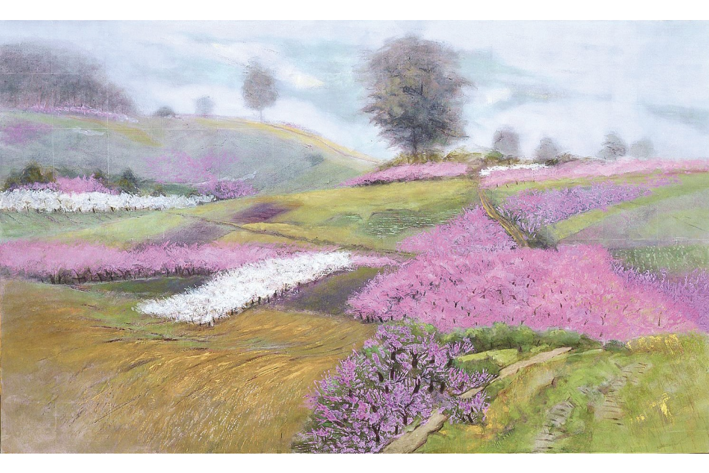 日本画家、平岩洋彦の新作を含めた16作品を展示