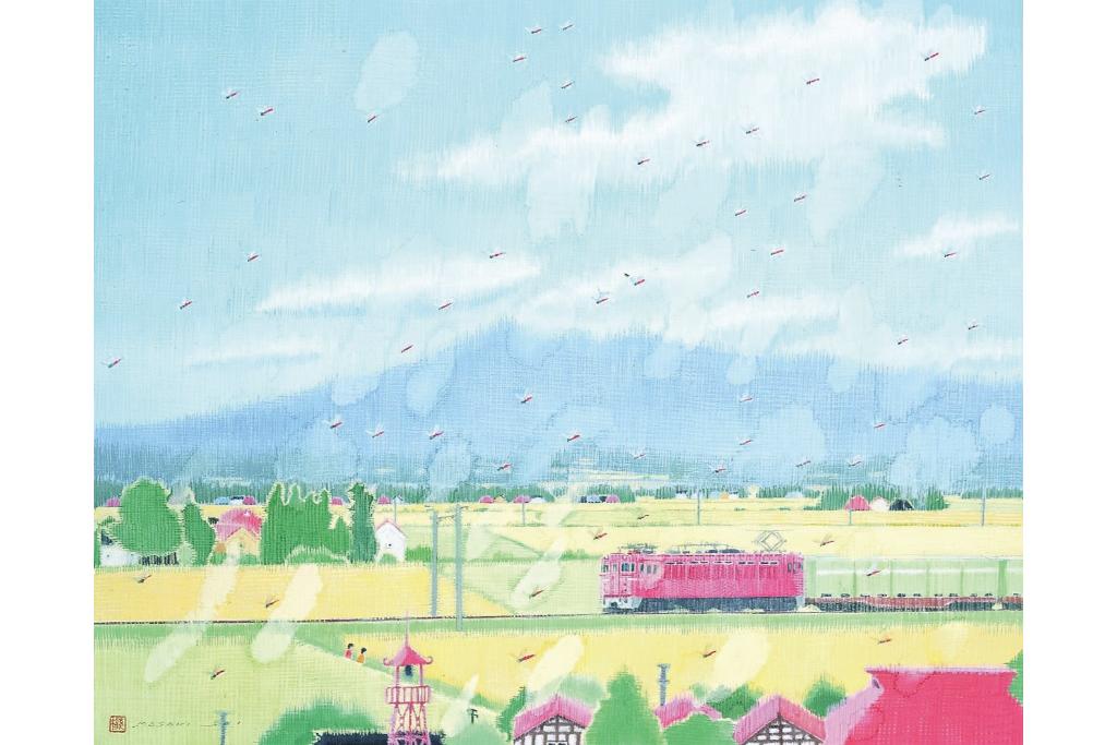 日本画家、齋正機の新作を含めた17作品を展示