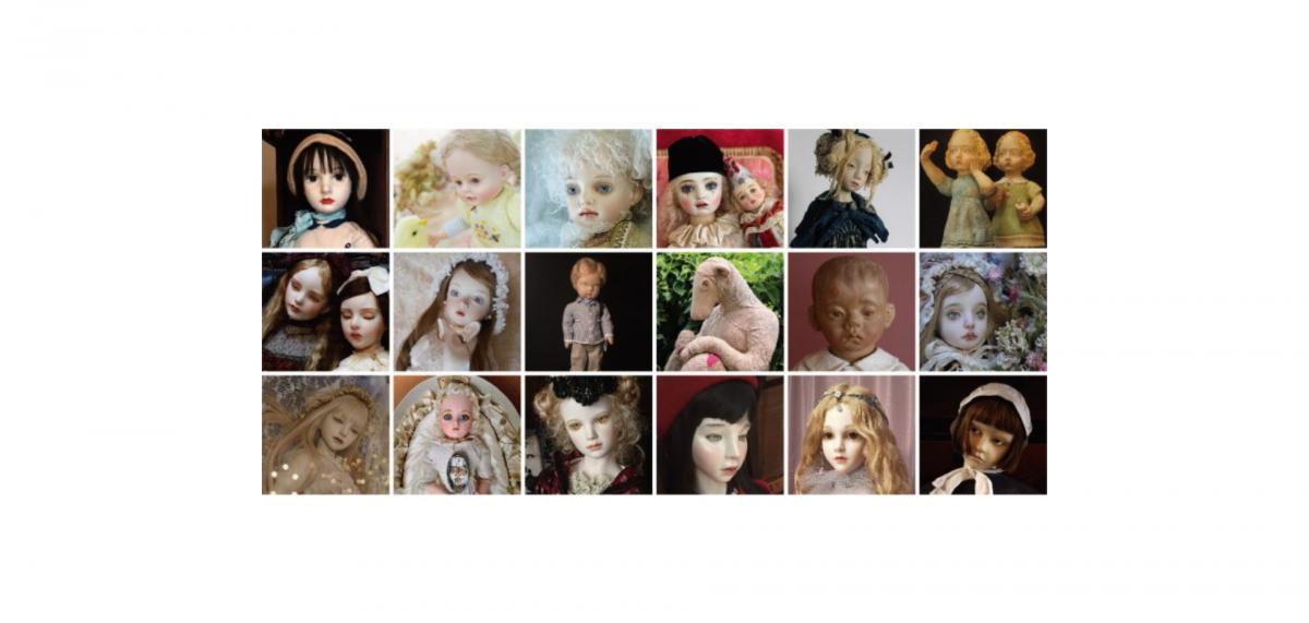 伝統をリスペクトし新たに創作された現代人形とアンティークドールのコラボレーション!