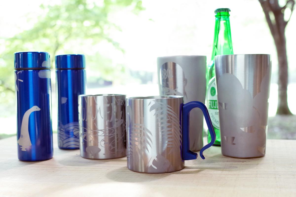 砂で削って模様をつけるサンドブラストでブルーボトル・ビアタンブラーやマグカップを作ろう!