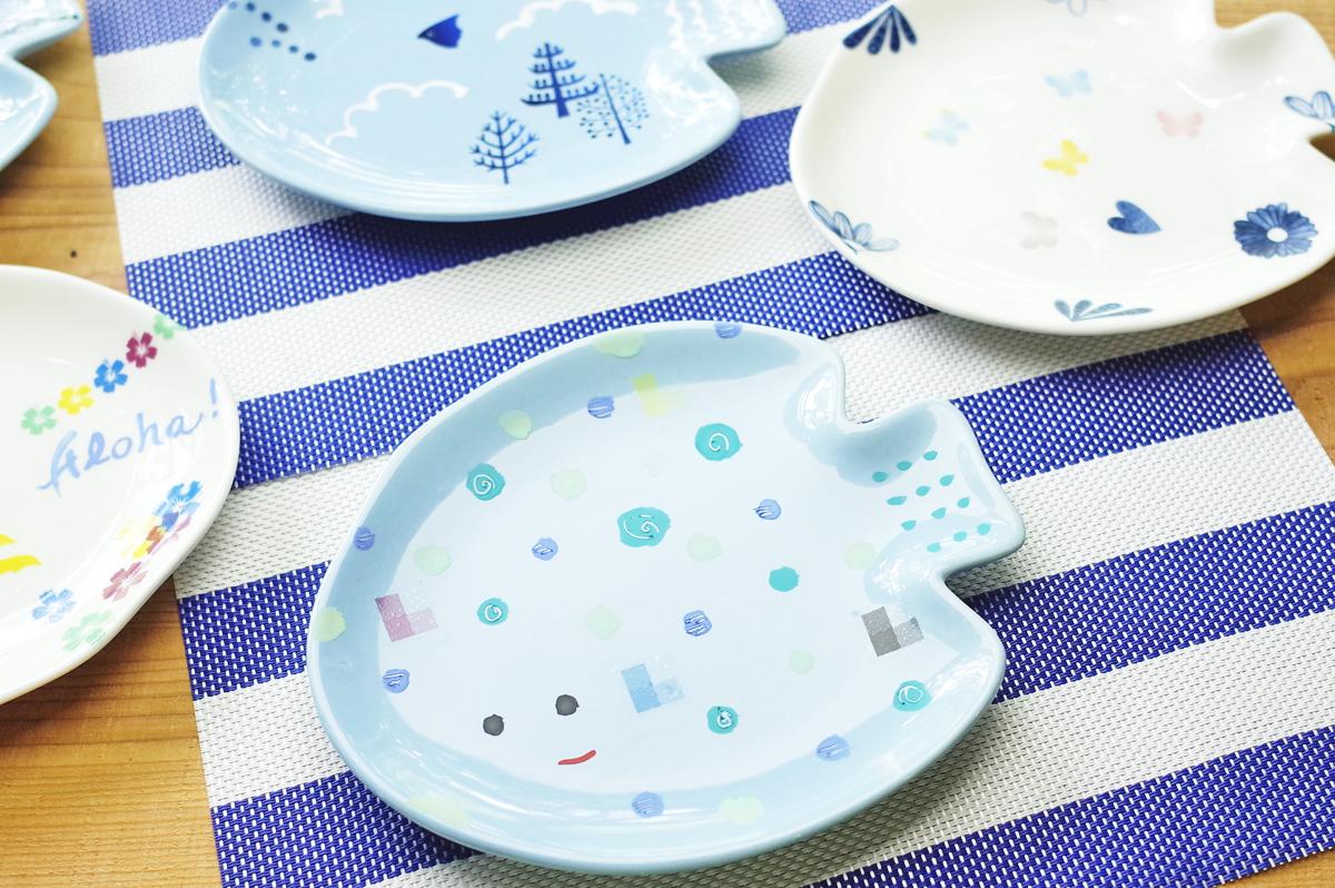 家族やお友達、みんなで楽しく作りましょう!陶芸 絵付け「お魚プレート」