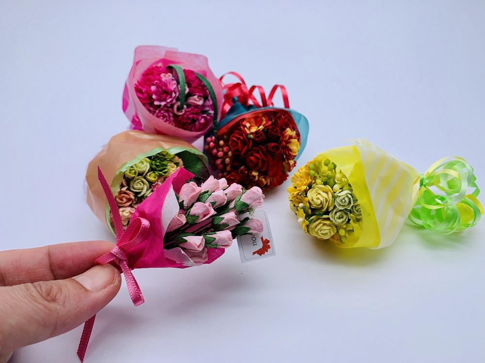 フラワーマーケットでお花を選んでミニチュアブーケを作ろう!