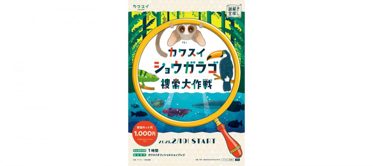 カワスイ 川崎水族館でショウガラゴ捜索大作戦イベント開催!